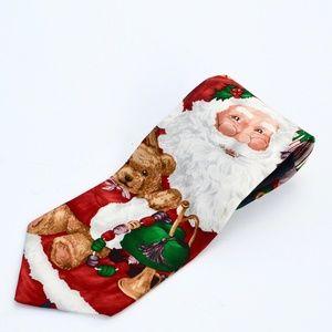 Hallmark MMG Holiday Traditions Santa Neckware Tie